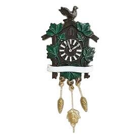 ドイツ製 ブローチ ( 鳩時計 ) WUP4300 pud707b WALTER&PREDIGER ピンブローチ ハンドペイント 時計 モチーフ アクセサリー おしゃれ かわいい 女性 プレゼント ギフト グッズ ファッション 小物 輸入雑貨 雑貨
