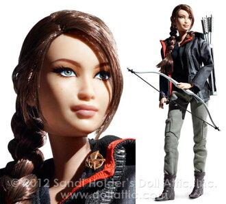 바비 Barbie 행거 게임(Hunger Games) Katniss 실업 수당 수집가 블랙 라벨 컷 니스 하는 패킷 불가