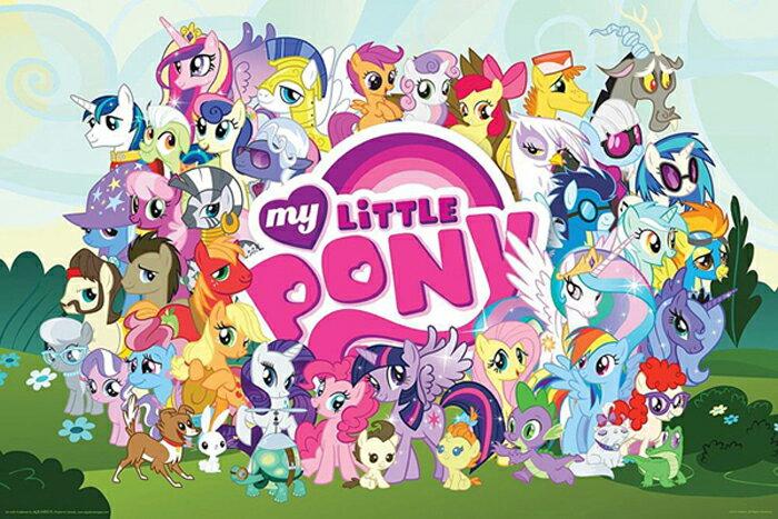 マイリトルポニー My Little Pony ポスター Cast 9419 トモダチは魔法 アニメ グッズ 輸入 インポート メール便不可【ssoff】