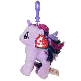 マイリトルポニー ぬいぐるみ マスコット ( トワイライトスパークル ) 10404 My Little Pony Twilight Sparkle ty キーチェーン グッズ メール便不可