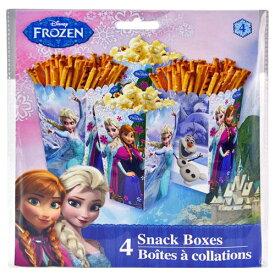 アナと雪の女王 4pc スナックボックス 10779k FROZEN お菓子 食器 誕生会 使い捨て メール便不可