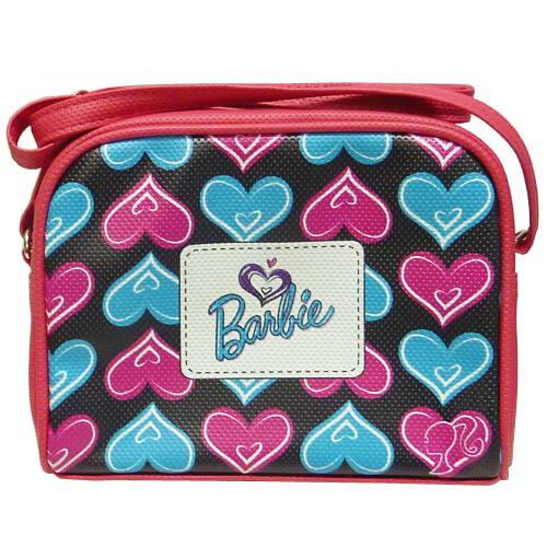 バービー Barbie ヨコ型 ショルダーバッグ ハート 10927k バック 鞄 かばん ピンク 女の子 キャラクター グッズ 輸入 おしゃれ メール便不可