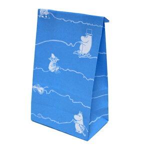 ムーミン ボトムバッグ (SS) ウールヤーンBL 10枚入 MP840 11054 MOOMIN ラッピング 包装 紙袋 袋 マチあり ブルー 青 ギフト プレゼント バレンタイン お菓子 インディゴ キャラクター 雑貨 グッズ