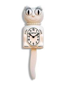 キットキャットクロック (ホワイト) KITCAT-BC12 Kit-Cat klock 白 猫 ねこ 掛け時計 掛時計 時計 インテリア 雑貨 グッズ おしゃれ デザイン モチーフ かわいい アメリカ MADE IN U.S.A pud288