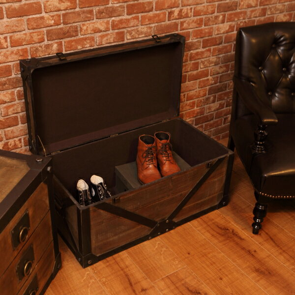 収納ボックス 送料無料 木製 ナチュラル 収納 アンティーク レトロ 男前インテリア オシャレ 家具 IW-983
