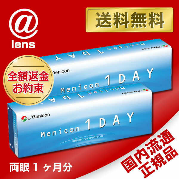 【送料無料】【YM】メニコンワンデー 2箱セット (メニコン1DAY / メニコン ワンデー / Menicon 1day / コンタクト)