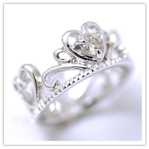 【 天然ダイヤモンド 】ダイアモンド0.025ctティアラベビーリング【4月ダイヤモンド】【 出産祝い 】【誕生日祝い】【 誕生石 】【プレゼント】【K10/K18/プラチナ特注可能】【 プリムローズ 】
