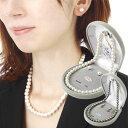 【マラソンP20倍】あす楽 送料無料 日本製 ケース入 パール ネックレス 8mm珠 本貝パール真珠ネックレス イヤリングor…