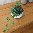 フェイクグリーン 人工観葉植物 造花 ミニ シュガーバイン 白玉石 白陶器S GREENPARK | 観葉植物 小さい インテリアグ…