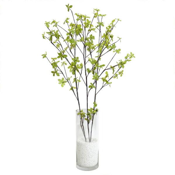 フェイクグリーン 人工観葉植物 造花 大型 ドウダンツツジ ガラスシリンダーH35 GREENPARK | 観葉植物 観葉 植物 人工 人工植物 インテリアグリーン インテリア フェイク グリーン アーティフィシャルグリーン おしゃれ イミテーショングリーン
