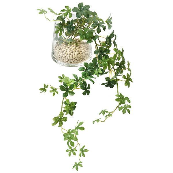 フェイクグリーン 人工観葉植物 造花 シュガーバイン エコストーン ガラストラペゾイド GREENPARK