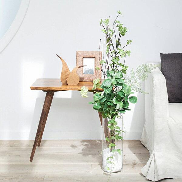 フェイクグリーン 人工観葉植物 造花 大型 ドウダンツツジ&グリーン ガラスシリンダーH35 GREENPARK
