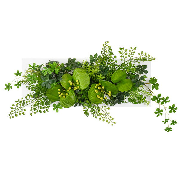 フェイクグリーン 人工観葉植物 造花 壁掛け シュガーバイン×アジアンタム ウォールデコM GREENPARK