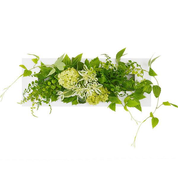 フェイクグリーン 人工観葉植物 造花 壁掛け テッセンソウ×ボタンファーン ウォールデコM GREENPARK | 観葉植物 アーティフィシャルフラワー ウォールフラワー グリーンパネル アーティフィシャルグリーン 花 インテリアグリーン インテリア おしゃれ プレゼント ギフト
