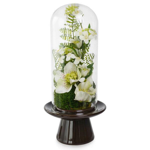 仏花 供花 造花 アーティフィシャルフラワー クリスマスローズ ガラスドームL ボックス入り PRIMA