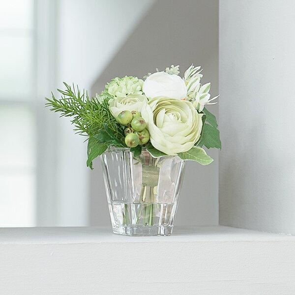 フラワーアレンジメント 造花 アーティフィシャルフラワー ラナンキュラス ウォーターアレンジS PRIMA