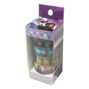 マスキングテープ かわいい ディズニー グッズ アナと雪の女王 マステ 文具 入学 アナ雪 可愛い キャラクター 雑貨 メール便可 パープル