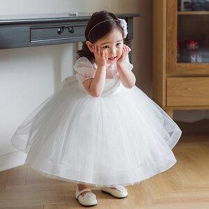 ベビードレス 結婚式 ピアノ発表会 ドレス 子供ドレス フラワーガール 白 新生児 セレモニードレス お宮参り 夏 女の子 ドレス