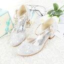 キッズ フォーマルシューズ シルバー 子供 靴 キラキラ シューズ フォーマル 靴 女の子 靴 子供靴 入学式 結婚式 ピア…