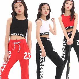 ダンスパンツ ジュニア キッズダンス パンツ ヒップホップ 衣装 キッズ ダンス パンツ 黒 赤 韓国 子供 hiphop ダンスウェア