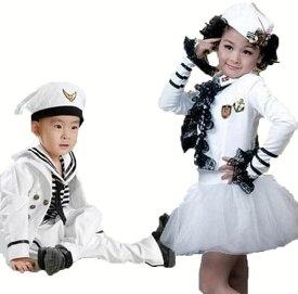 キッズダンス衣装 セットアップ 男の子 海軍 水兵コスプレ 海軍 コスチューム ハロウィン 衣装 女の子 ワンピース 海軍 コスプレ衣装