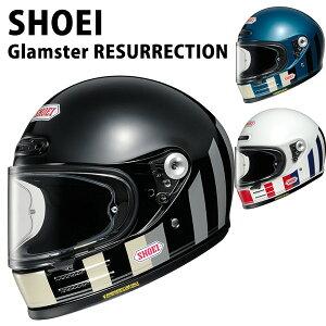 SHOEI ヘルメット フルフェイス Glamster グラムスター RESURRECTION リザレクション バイク メンズ レディース かっこいい おしゃれ シンプル 公道 ツーリング ブランド ギフト 正規品 新品 通販