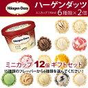 ハーゲンダッツ アイスクリーム ミニカップ■14種類から6種類選べる12個(2個×6種類)セット|クール便無料|ハーゲンダッツ|ギフト|お礼|お返し|内祝い|出...