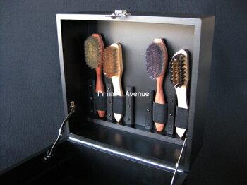 靴磨き用ブラシ収納ボックスパーフェクトブラシボックス【楽ギフ_包装】【smtb-TK】あす楽対応