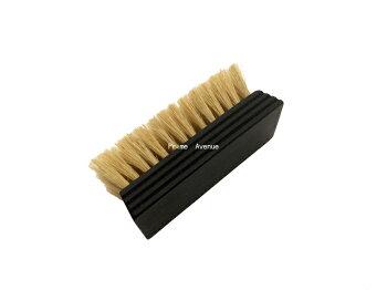 靴磨き用ブラシLeBeau(ルボウ)オリジナルミニピッグヘアブラシホワイト(黒コーティング)あす楽対応