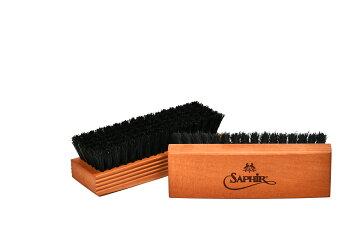 靴磨きブラシ豚毛SaphirNoir(サフィールノワール)ブリストルポリッシャーブラシ(全2色)あす楽対応