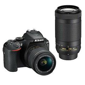 【マラソンセール限定!当店P2倍!】【送料無料】Nikon デジタル一眼レフカメラ D5600 ダブルズームキット ブラック D5600WZBK