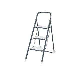 【送料無料_d】キッチン ステップラダー2 3段 踏み台 折りたたみ 2段 クッション付 滑り止め付 ステップチェア 椅子 脚立 おしゃれ 家庭用 洗車・掃除・高所作業 キッチン はしご