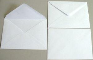 ハガキ・ポストカード用 洋封筒 白 郵便枠なし 100枚