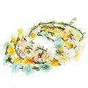 イベントに!きれいな色の花かんむり(5色)イベント・ダンス・フラワー・花冠・ヘッドドレス・結婚式・ヘアアクセ・ウ…