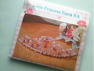 しずくが揺れるパールティアラの手作りキット(ピンク)結婚祝い,髪飾り,カチューシャ,手作り,ブライダルアクセ,二次会,結婚,ティアラ,花冠,ドレス