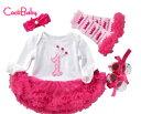 1歳 誕生日 ドレス コスチューム 4点 セット ベビー コスプレ バースデー ドレス コスチューム ヘアバンド 誕生日 ベ…