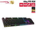 【タオル同梱】【Final Fantasy XIV推奨】 キングストン HyperX Alloy FPS RGB メカニカルゲーミングキーボード - Kai…