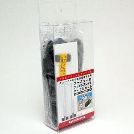ケンウッドAK02・HF-201用 ブースター付フィルムアンテナ+4mケーブル 左右セット 2CH対応・業務用 AZ-5109