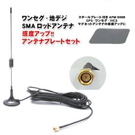 ワンセグアンテナ 【SMA】 ワンセグ・地デジ用 ロッドアンテナ +アンテナプレートセット