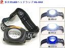 【点滅・青・白】 頭につけるライト LEDヘッドランプ ヘッドライト ウォーキングライト HL-043