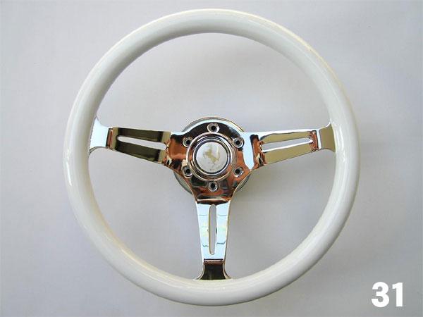 ステアリングホイール ドレスアップ モモ ピュアホワイト ステアリングホイール 31cm/31Ф/310mm ホワイトステアリング ハンドル
