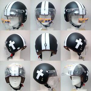 バイク ヘルメット リード工業 NOVIA(ノービア) バブルシールド付き オシャレな スモール ロージェットヘルメット クロスブラック 55-57cm未満 レディース/女性用 NOVIA-CRSBK SG規格 PSCマーク