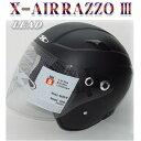ジェットヘルメット 送料無料 バイク用 ジェットヘルメット RAZZO3 マットブラック リード工業