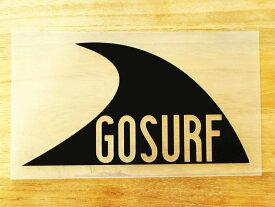GO SURF 1 黒 白 2枚組 ステッカー 車 かっこいい ブランド おしゃれ ウォールステッカー キャリーバッグ バイク 西海岸 サーフィン カリフォルニア ハワイ surf sup nyc プリンタック 切り文字 【メール便送料無料】