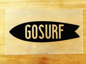 GO SURF 2 黒 白 2枚組 ステッカー 車 かっこいい ブランド おしゃれ ウォールステッカー キャリーバッグ バイク 西海岸 サーフィン カリフォルニア ハワイ surf sup nyc プリンタック 切り文字 【メール便送料無料】