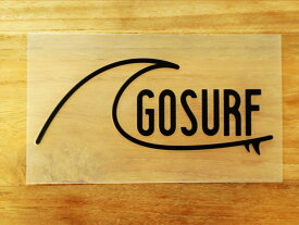 GO SURF 4 黒 白 2枚組 ステッカー 車 かっこいい ブランド おしゃれ ウォールステッカー キャリーバッグ バイク 西海岸 サーフィン カリフォルニア ハワイ surf sup nyc プリンタック 切り文字 【メール便送料無料】
