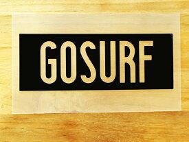 GO SURF 5 黒 白 2枚組 ステッカー 車 かっこいい ブランド おしゃれ ウォールステッカー キャリーバッグ バイク 西海岸 サーフィン カリフォルニア ハワイ surf sup nyc プリンタック 切り文字 【メール便送料無料】
