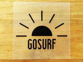 GO SURF 7 黒 白 2枚組 ステッカー 車 かっこいい ブランド おしゃれ ウォールステッカー キャリーバッグ バイク 西海岸 サーフィン カリフォルニア ハワイ surf sup nyc プリンタック 切り文字 【メール便送料無料】