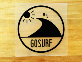 GO SURF 8 黒 白 2枚組 ステッカー 車 かっこいい ブランド おしゃれ ウォールステッカー キャリーバッグ バイク 西海岸 サーフィン カリフォルニア ハワイ surf sup nyc プリンタック 切り文字 【メール便送料無料】