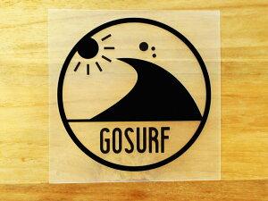 GO SURF 8 黒 白 2枚組 ステッカー 車 かっこいい ブランド おしゃれ ウォールステッカー キャリーバッグ バイク 西海岸 サーフィン カリフォルニア ハワイ surf sup nyc プリンタック 切り文字 【